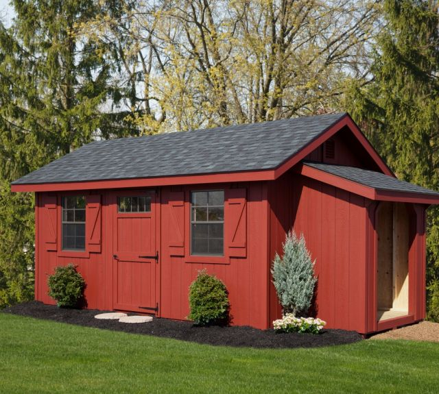 10x16-victorian-aframe-with-wood shed